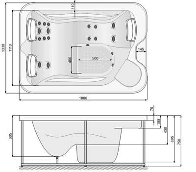 2 регулятора добавки воздуха к воде при водном массаже. oзонатор.